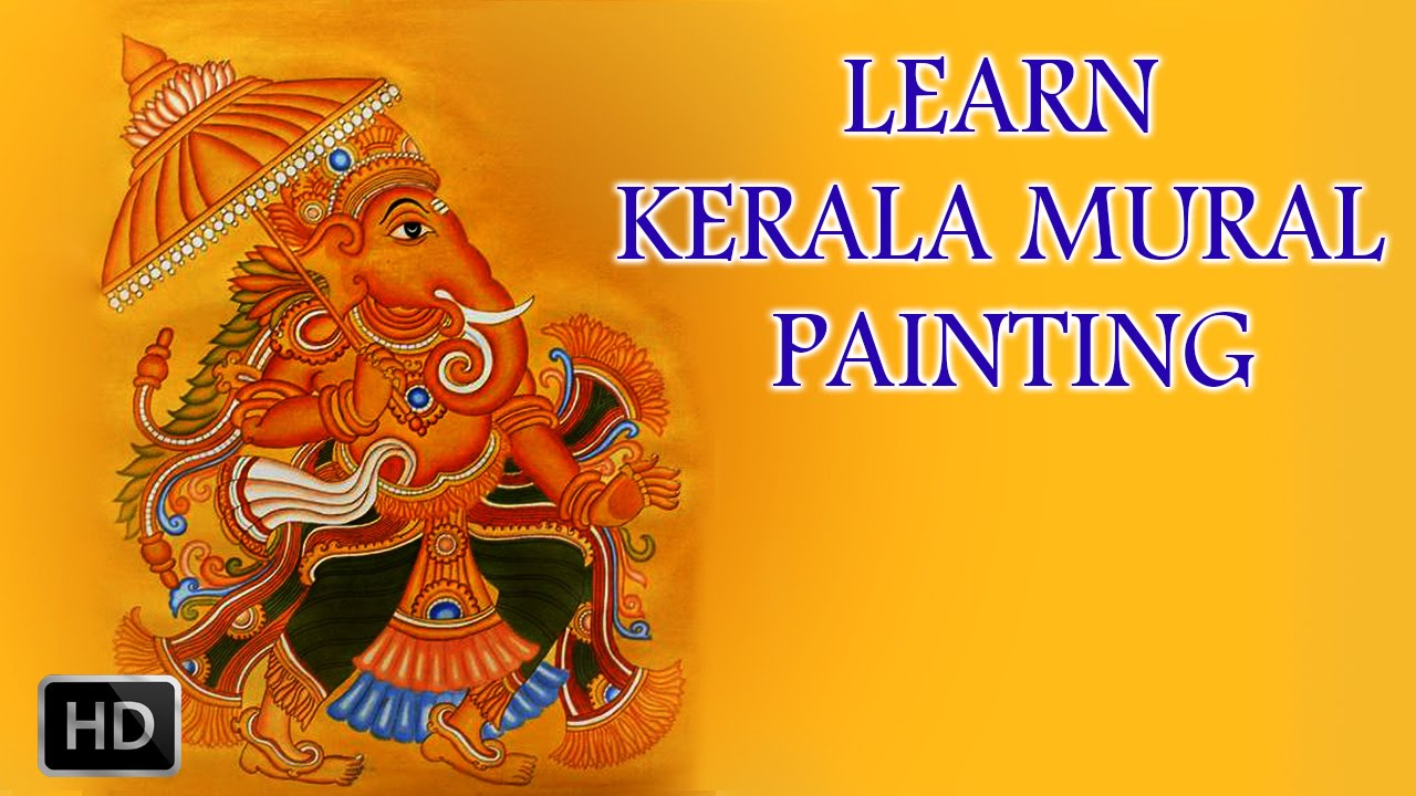 Learn kerala mural painting how to draw mural paintings for Acrylic mural painting techniques