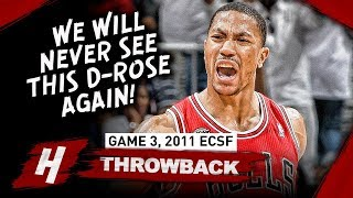 We Will NEVER See THIS Derrick Rose AGAIN! MVP Full Highlights vs Hawks (Game 3, 2011 Playoffs)