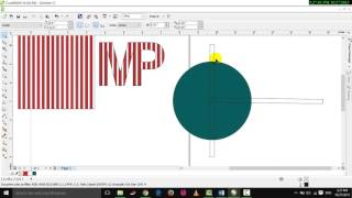 How to make combine text and shape in Corel Draw x6 step by step