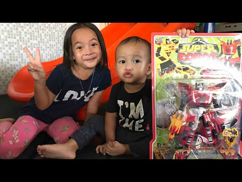 Kenzo Beli Mainan Robot Yang Bisa Jadi Mobil 😍 Mainan Anak Cowo