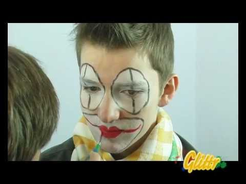 kinderschminken clown schminken youtube. Black Bedroom Furniture Sets. Home Design Ideas