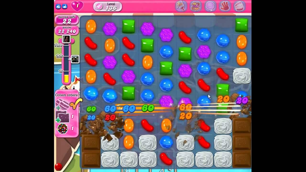 Candy Crush Saga 136 Level Finishing Collect Orders Youtube