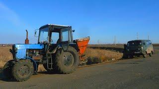 19 Д.2С..Буксует МТЗ 82 в снегу.Замерз бензовоз ГАЗ 52УАЗ место него заправка