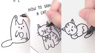 How to Draw a Simple Cat Super Easy tik tok ironic memes....How To Draw Cats