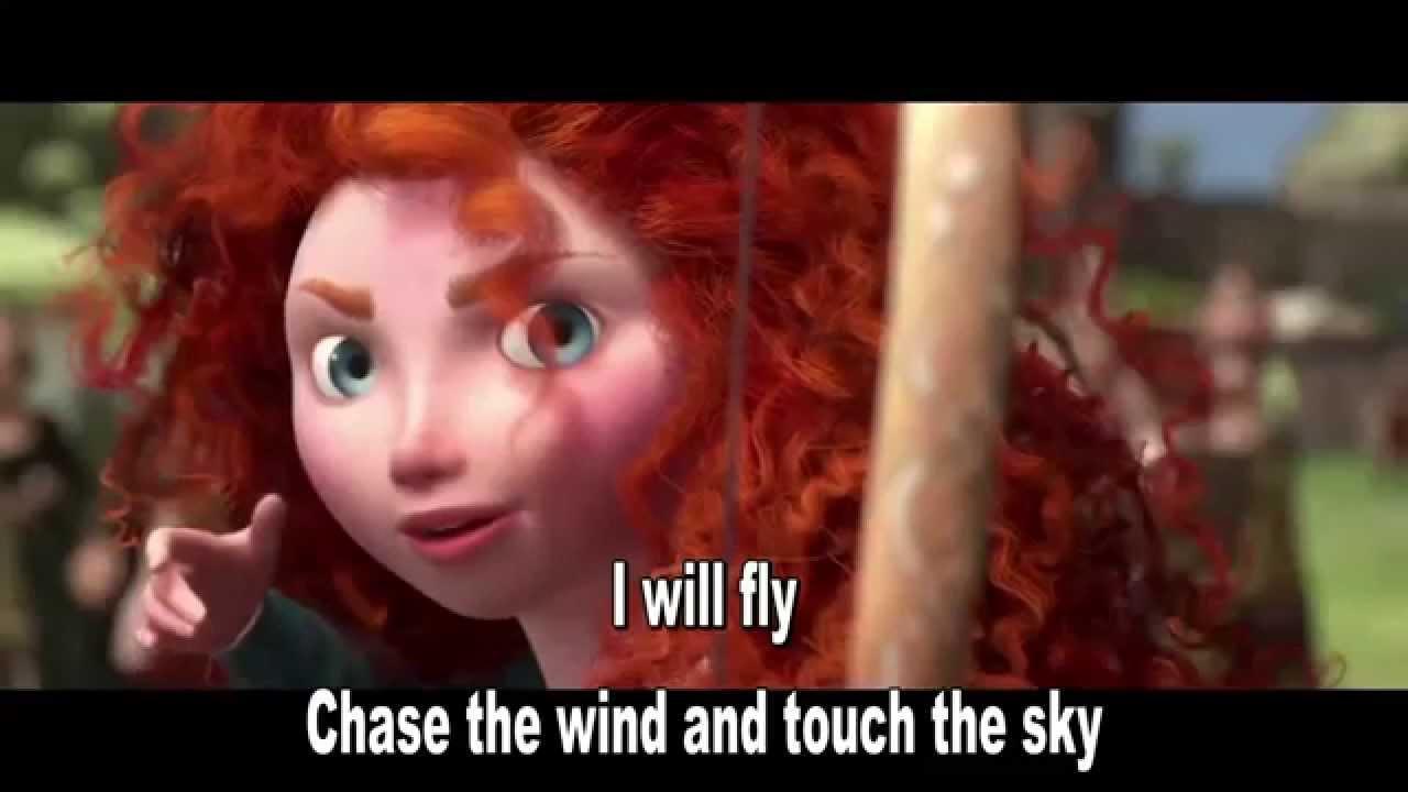 Disney Pixars Brave - Touch the sky - Sing along lyrics with Merida (Julie Fowlis)