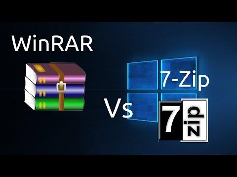 WinRAR Vs 7-Zip ¿Cual Es Mejor?