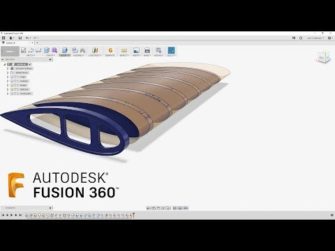 How To Create Airplane Wing Ribs    — Fusion 360 Tutorial — #LarsLive 162
