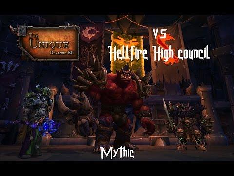 The Unique vs Mythic Hellfire High Council - Windwalker PoV
