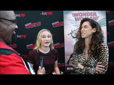 Mozhan Marno & Courtenay Taylor Interview Wonder Woman Bloodlines #NYCC2019 #NYCC19 #NYCC