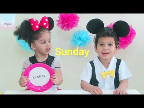 Twinsie life - Days of the week   ايام الاسبوع باللغة الانجليزية