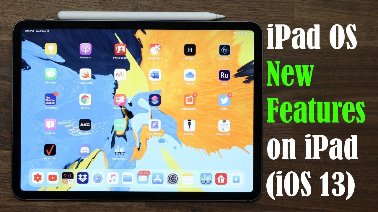 ios 13 ipad features