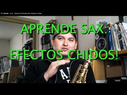 Tutorial de Saxofón Efectos de Glissando, Vibrato