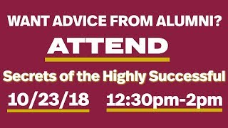SECRETS OF THE HIGHLY SUCCESSFUL 10/23/18 12:30PM - 2PM