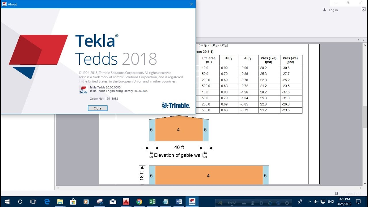 TEKLA TEDDS 2018: WIND LOAD CALCULATION EXAMPLE