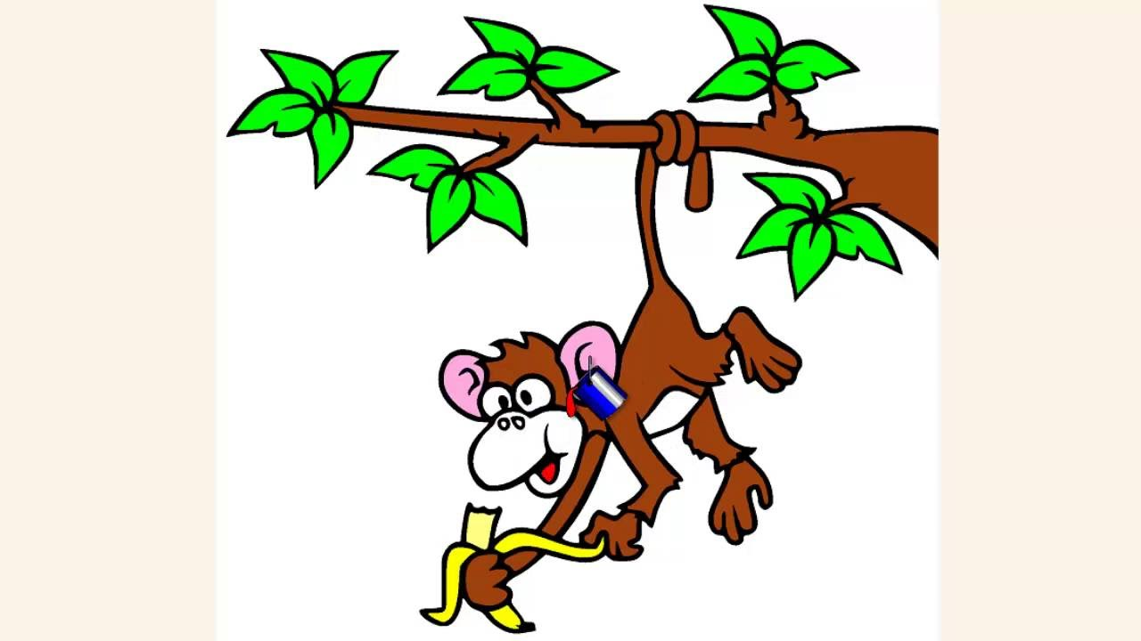Coloring Pages For Kids Cute Monkey