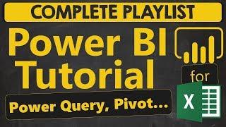 Power BI Tutorial for Beginners: Power Query, Power Pivot, Excel, Power BI (PPEP)