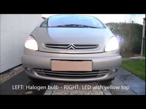 H4 LED kit Cree Headlight 30w 3000lm test Citroen Xsara Picasso