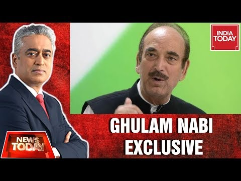 Exclusive: Ghulam Nabi Speaks Out On Farooq Abdullah's Detention Under PSA | News Today With Rajdeep