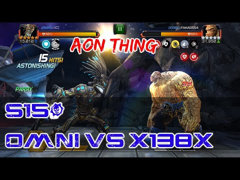 [AW] OMNI Vs X138X! Warlock Vs AON Thing - Marvel Contest Of Champions