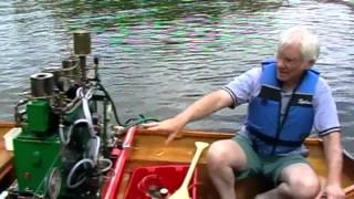 Stirling engine powered boats