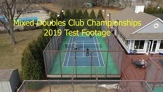 2019 Platform Tennis Mixed Doubles Drone Footage