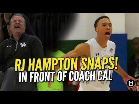 RJ Hampton Goes Off In Front Of Calipari @ UAA!! Full Game Highlights