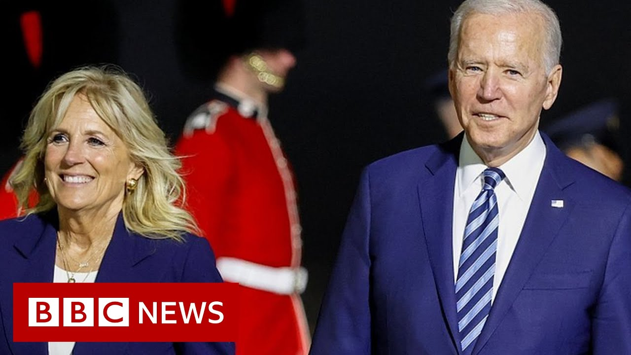 Download President Biden warns Russia as he opens foreign trip in UK - BBC News