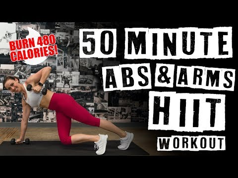 50 Minute HIIT Abs & Arms Workout 🔥Burn 480 Calories! 🔥