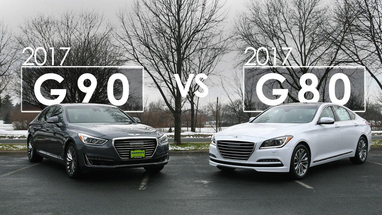 2017 Genesis Comparison | G80 vs G90 | Morrie's Genesis ...