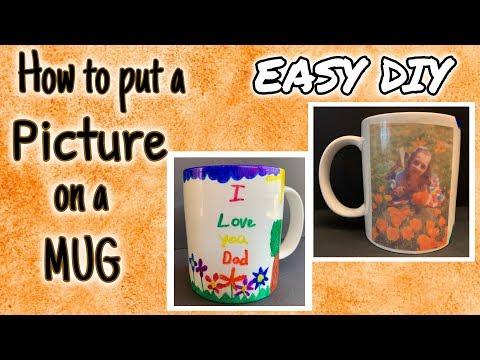 How To Put A PICTURE On A MUG DIY | EASY DIY | DIY Photo Mug