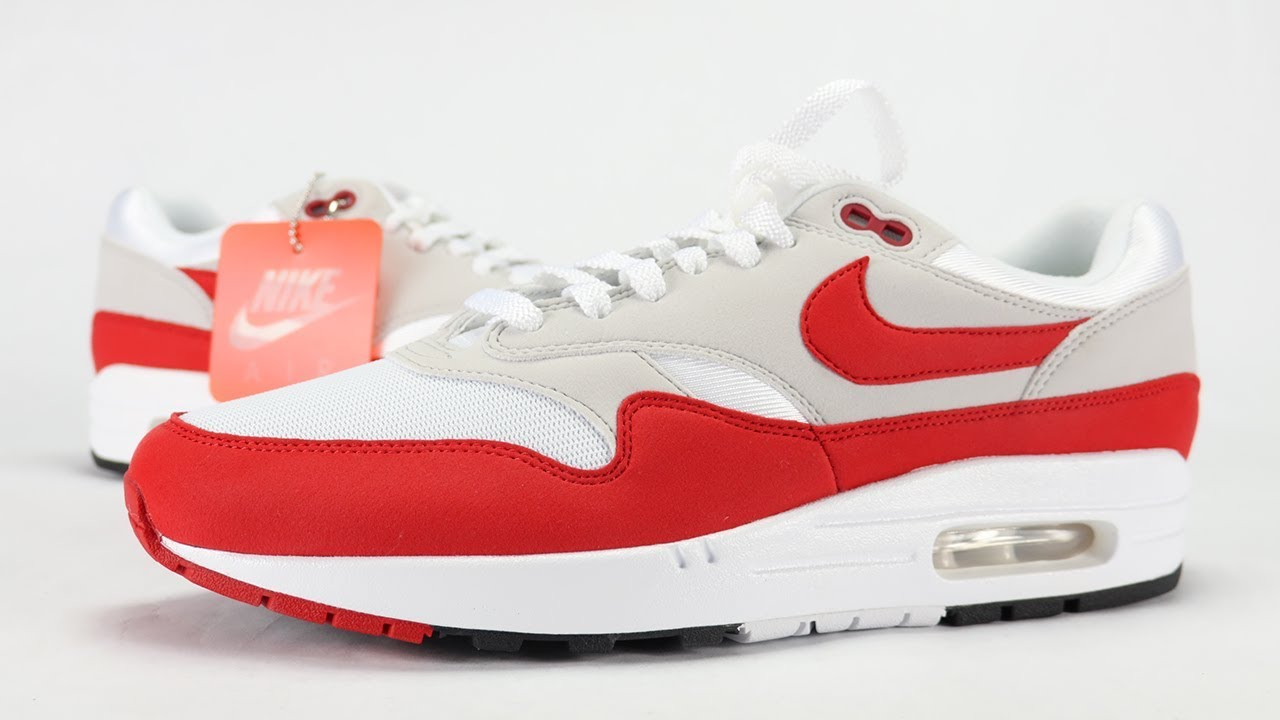 separation shoes 9e71f 19cf1 NIKE AIR MAX 1 OG RED ANNIVERSARY 2017 REVIEW
