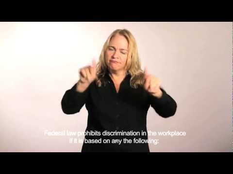 Discrimination in the Workplace: A Video in ASL with English Captioning