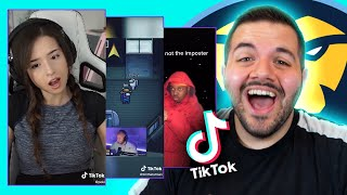 Reacting to the FUNNIEST Among Us TikToks...