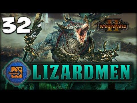RAMPAGE AGAINST THE HORNED RAT! Total War: Warhammer 2 - Lizardmen Campaign - Kroq-Gar #32