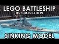 Sinking LEGO Battleship 【USS Missouri】7 foot Model