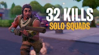 32 Kills Solo Squads | Console Fortnite