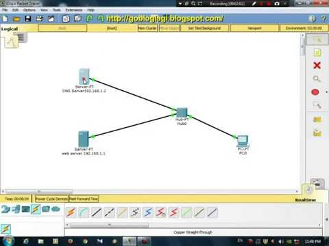 Cisco Packet Tracer Tutorial - Configure DNS Server