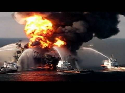 CNN: BP Oil rig, Deepwater Horizon explodes and sinks off the coast of Mexico
