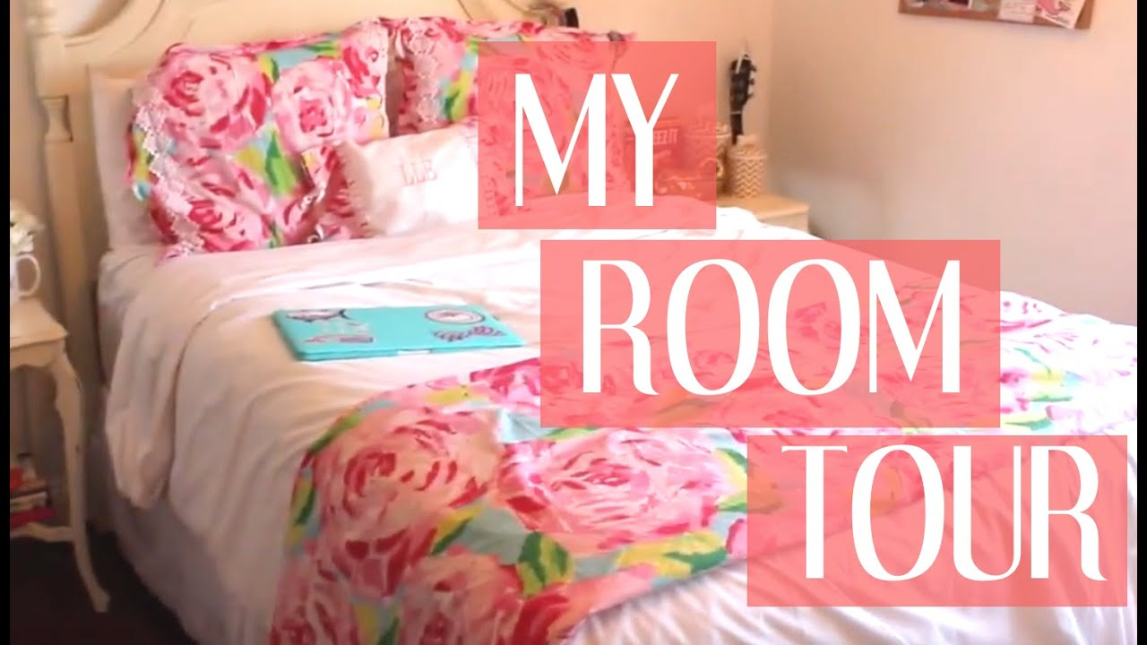 MY ROOM TOUR { Lilly Pulitzer Inspired } | Lauren Lindmark - YouTube