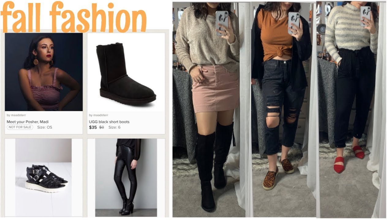 [VIDEO] - Fall Outfits Featuring my Poshmark Closet 1