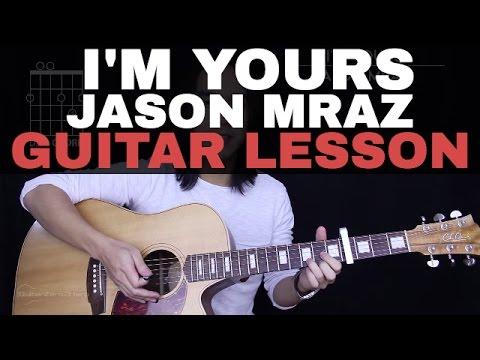 I'm Yours Guitar Tutorial Jason Mraz Guitar Lesson  Easy Chords + Guitar Cover 