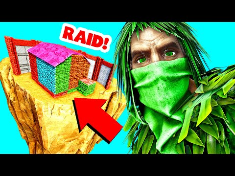 HOW I RAIDED THIS BASE WITH ONLY A GHILLIE SUIT! (Ark Survival Evolved Trolling)