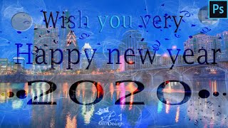 New year 2020 poster design new year Wallpaper Card Poster Design in Photoshop Anyone can design