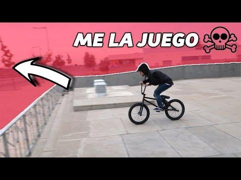 SALTO PELIGROSO CON MI BMX EN LLEIDA!