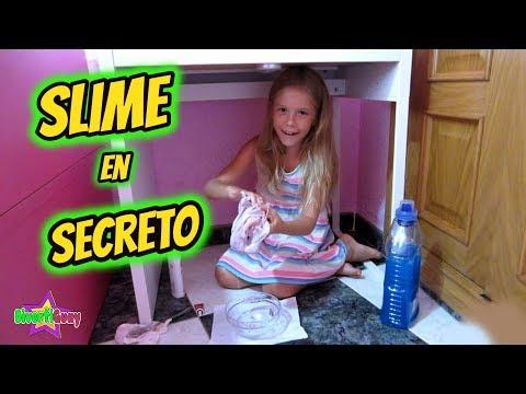 HACIENDO SLIME EN SECRETO con  Daniela Divertiguay