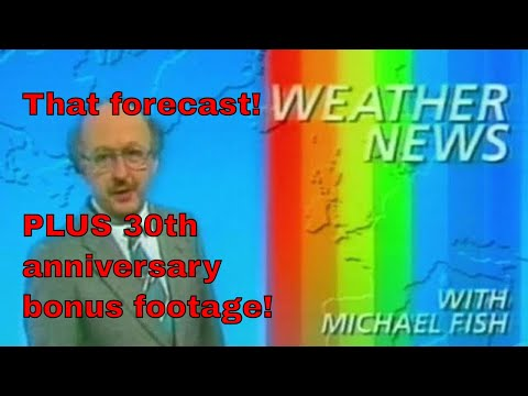 Michael Fish Hurricane Video 1987 / NEW Michael Fish Hurricane Video Update!