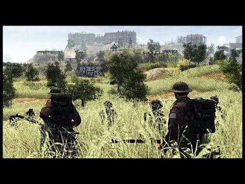 Huge German Hill Fort Attack - Canadians & Brits Lay Siege | Men of War Assault Squad 2 Mod Gameplay