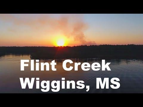 drone footage at Flint Creek