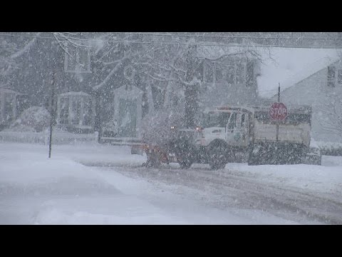 Rocky River Snow Plows At Work As Weather Hits Northeast Ohio