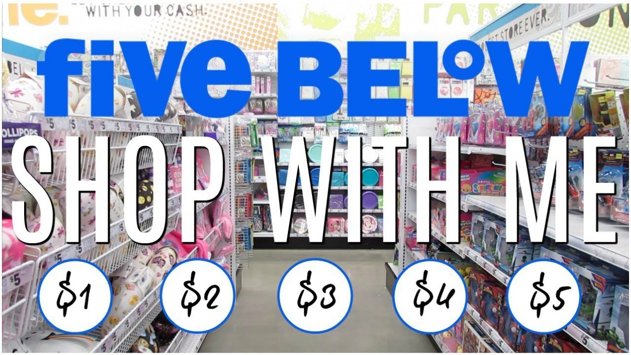 Five Below Shop With Me New 1 To 5 Items Youtube